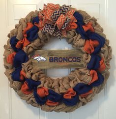A personal favorite from my Etsy shop https://www.etsy.com/listing/454027046/denver-broncos-wreath-denver-broncos