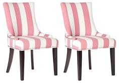 Pink Lester Dining Chairs, Pair | Affordable Finds | One Kings Lane