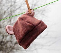 Child's fleece bear hat  brown approx 06 months by accidentalvix, £12.00