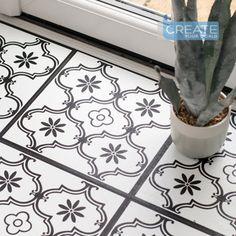 Tile Effect Vinyl Flooring, Laminate Tile Flooring, Cleaning Vinyl Floors, Sticky Back Plastic, White Laminate, Ideal Tools, Pattern Matching, Radiant Heat, Adhesive Vinyl