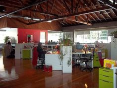 The Yes to office is bright, open and always has music playing....