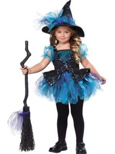 Girls Darling Little Witch Costume
