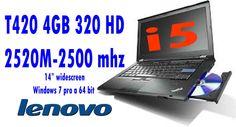 Lenovo Thinkpad T420, I5 2520 M 2,5 Ghz 4GB 320 HD CON WINDOWS 7 PRO A 64 BIT GARANZIA 180 GIORNI