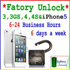 Apple iPhone 3G 3GS 4 4S 5 PERMANENT FACTORY UNLOCK IMEI Code Service for AT  ★UNLOCK☆ iPHONE 5 ☆ 6-24 HRS 6 DAYS A WEEK 8am-6pm PST★  Starting bid:US $7.99  Price:US $9.99