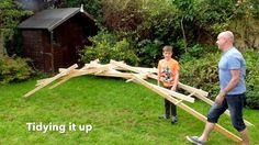 Stick-Boy teaches his Dad to build a Leonardo da Vinci Bridge https://www.youtube.com/watch?v=QKdQV2q5PRk