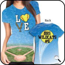 Softball Gear, Team Softball Products and Softball Shirts