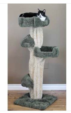 Our Premier Large Cat Play tree is a unique cat tree that actually looks like a REAL tree! This amazing piece of cat furniture is also a unique piece of art, and provides a great escape for your cat! With 2 perches at the perfect height this tree is beautiful and functional. #cat #catlovers #catfurniture #cattrees #catcondos #petlife #dogappareldeals #affiliatelink Cool Cat Trees, Cool Cats, Large Cat Tree, Cat Towers, Sisal Rope, Cat Condo, Pet Furniture, Pet Life, Carpet Colors