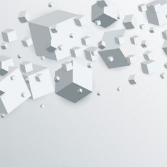 3d cubes background Free Vector