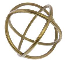 Lark Brass Sphere Sculpture - metallic accents to give your home that designer look. Brass - 2018 design trends. #design #trends