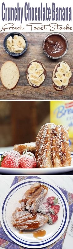 It's crunchy, it's creamy, it's sweet chocolate bliss. This Chocolate Banana French Toast made with Nestle Carnation Breakfast powder is everything you need in a breakfast. [AD]