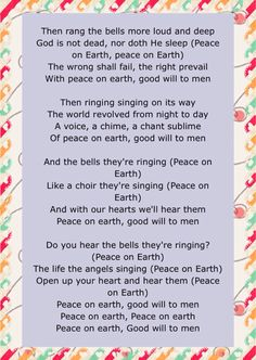 december 2015 of jesus birthday celebration some of the lyrics of i heard the bells on christmas day by casting crown - Christmas In Our Hearts Lyrics
