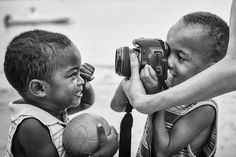 That early morning in the little village of Ampangorina (Nosy Komba, Madagascar), the two little boys in the image were playing with a camera for the first time. I have a whole bunch of blurry images, I will keep them all, a precious moment.