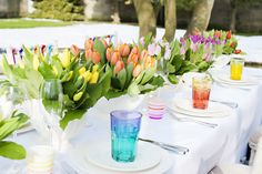 rainbow wedding color trends | Amanda from Ava Event Styling tells us the thought behind the shoot ...