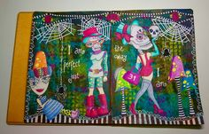Vintage Handmade: Anything But Cute mixed media challenge #6