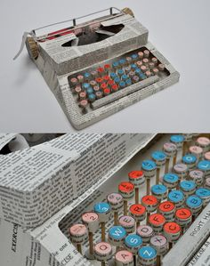 http://inspire.2ia.pl/post/12567166487/paper-typewriter-by-jennifer-collier
