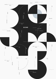 Poster by Andrea Dell'Anna… – tilman Plakat von Andrea Dell'Anna (www. Design Visual, Graphisches Design, Buch Design, Grid Design, Cover Design, Layout Design, Circle Design, Shape Design, Graphic Design Posters