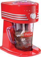 Nostalgia Electrics - Coca-Cola Series 32-Oz. Frozen Beverage Maker (082677242341) Create delicious, refreshing drinks with this Nostalgia Electrics Coca-Cola Series FBS400COKE frozen beverage maker that features coarse and fine ice-shaving options for a drink that matches your preference. The BPA-free pitcher allows safe, lasting use.