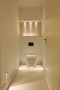 Downstairs Toilet Wallpaper Ideas Small Bathroom Design Home Decor Minimum Size Building Regulations Separate Room Name Interior Designs With Shower Plans Amazing Rooms - Small Bathroom Dimensions Toilet Ideas Small Toilet Room, Guest Toilet, Bathroom Lighting Design, Bathroom Interior Design, Vanity Lighting, Hall Lighting, Indirect Lighting, Bathroom Styling, Bad Inspiration