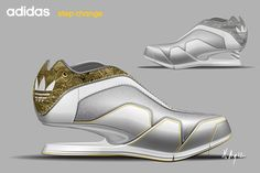 Adidas High Heel Sneakers by Michael Ayite, via Behance