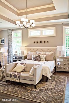 Home-a-Rama 2014: Light and neutral master bedroom  | Atkinson Drive