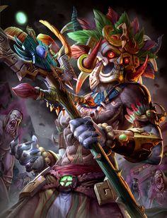 Ah Puch, Deus dá morte e rei do metnal, o inframundo, o pior dos nove infernos maia