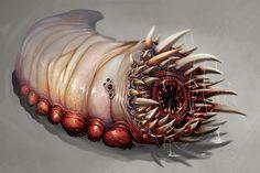 Blubby by Lanasy on DeviantArt Monster Concept Art, Alien Concept Art, Creature Concept Art, Fantasy Monster, Monster Art, Creature Design, Cool Monsters, Dnd Monsters, Arte Horror