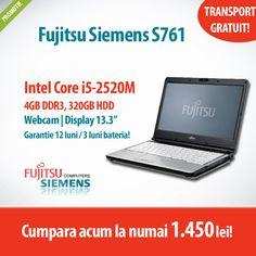 Astazi avem in oferta un laptop cool la un super pret! :)  Cumpara Fujitsu Siemens LifeBook S761, cu procesor Intel Core i5-2520M, 4GB DDR3 si 320GB HDD la numai 1.450 lei cu TVA inclus! Pc Shop, Laptop, Second Hand, Hdd, Cool Things To Buy, Korea, Calculus, Cool Stuff To Buy, Laptops