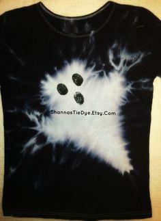 Organic Cotton Halloween Ghost Tie Dye costume by ShannasTieDye, $25.00
