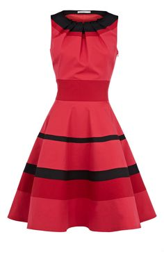 Dress with Stripes in Red