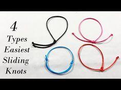 Jewelry Knots, Bracelet Knots, Slide Knot Bracelet, Knots For Bracelets, Knotted Bracelet, Jewellery, Diy Bracelets With String, Diy Bracelets Easy, Diy Bracelets Patterns