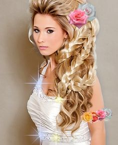 Variety of Big Hair Wedding Hairstyle hairstyle ideas and hairstyle options. If you are looking for Big Hair Wedding Hairstyle hairstyles examples, take a look. Cute Braided Hairstyles, Wedding Hairstyles For Long Hair, Braids For Long Hair, Latest Hairstyles, Celebrity Hairstyles, Bride Hairstyles, Cool Hairstyles, Arabic Hairstyles, Bridesmaid Hairstyles