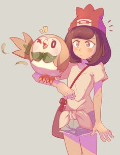 pokemon sun and moon - rowlet<<<<<<< that hat though