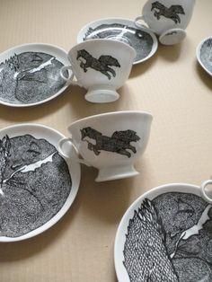 Fox Porcelain by Collectilovely Imaginative , via Behance