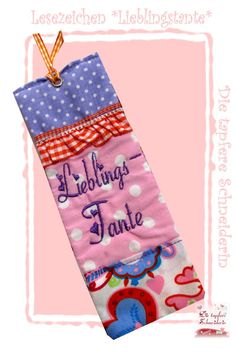 Lesezeichen *Lieblingstante* von Die tapfere Schneiderin, handmade with love ... by Viola auf DaWanda.com