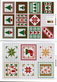 Gallery.ru / Photo # 7 - 184 - Auroraten Christmas Charts, Cross Stitch Christmas Ornaments, Christmas Coasters, Christmas Cross, Christmas Squares, Christmas Images, Mini Cross Stitch, Cross Stitch Borders, Counted Cross Stitch Patterns