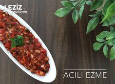 Acılı Ezme Tarifi Chana Masala, Chili, Soup, Ethnic Recipes, Chile, Soups, Chilis