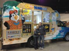 Kona Ice -- a company headquartered in Florence, Ky. -- describes its product as a one of a kind experience that serves a premium tropical shaved ice. Ice Car, Ice Truck, Swartz Creek, Kona Ice, Dinosaur Train, Summer Heat, Florence, Michigan, Bring It On