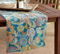 Turquoise Modern Felt Table Runner Felting Turquoise