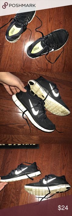 Black Nike free runs 5.0 size 8.5 Used for working. Never seen running trails so no holes or rocks in bottom. Very comfortable. Selling because I got a new pair. Nike Shoes Athletic Shoes