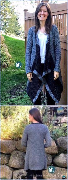 Crochet Blanket Cardigan Free Pattern - Crochet Women Sweater Coat & Cardigan Free Patterns