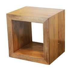 Found it at Wayfair - Uniquely Styled Wooden Cube End Table