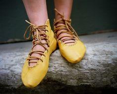 yellow ballet hi-tops!