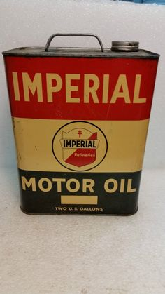 Antique Imperial Motor Oil 2 gallon metal can