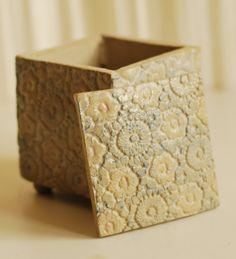 Lace Ceramic Box