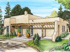 adobe homes   Plan 008H-0021 - Find Unique House Plans, Home Plans and Floor Plans ...