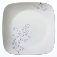 Corelle Square Jacaranda Luncheon Plate (Set of . Corelle Dinner Set, Corelle Plates, Porcelain Mugs, Stoneware Mugs, Dinner Sets, Dinnerware Sets, Simple Lines, Salad Plates, Plate Sets