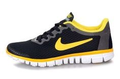 Nike Free Women s Running Shoe Black Yellow,Stylish trainers hot sale with  off right here. a34ac428f0