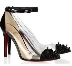 Christian Louboutin  Just Picks 100 studded patent-leather and PVC pumps