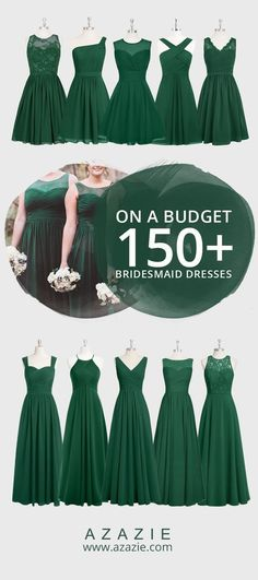 150 Baylor green bridesmaid dresses for $150 or less