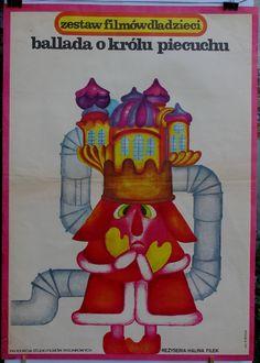 An animated Polish film for children. Polish poster by Hanna Bodnar (1977)